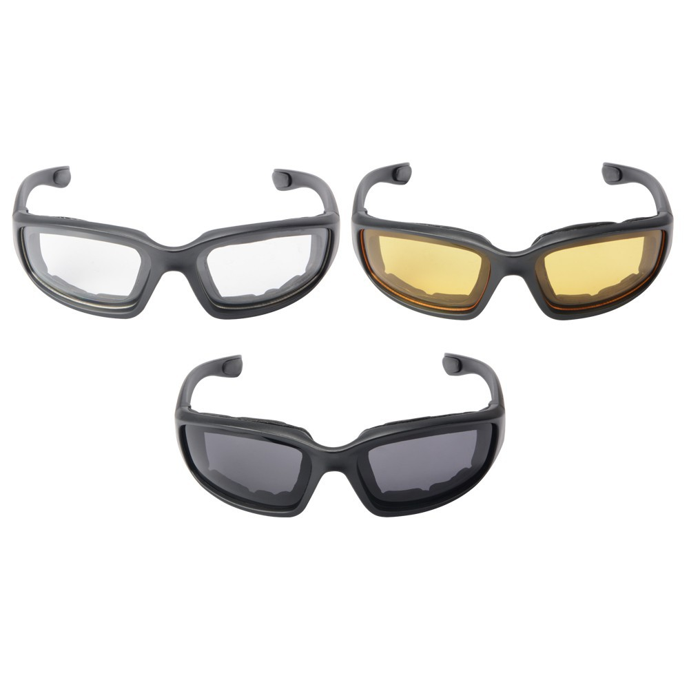 Choppers Sports Biker Sunglasses Motorcycle Riding Glasses UV400 1 or 3 Pair s