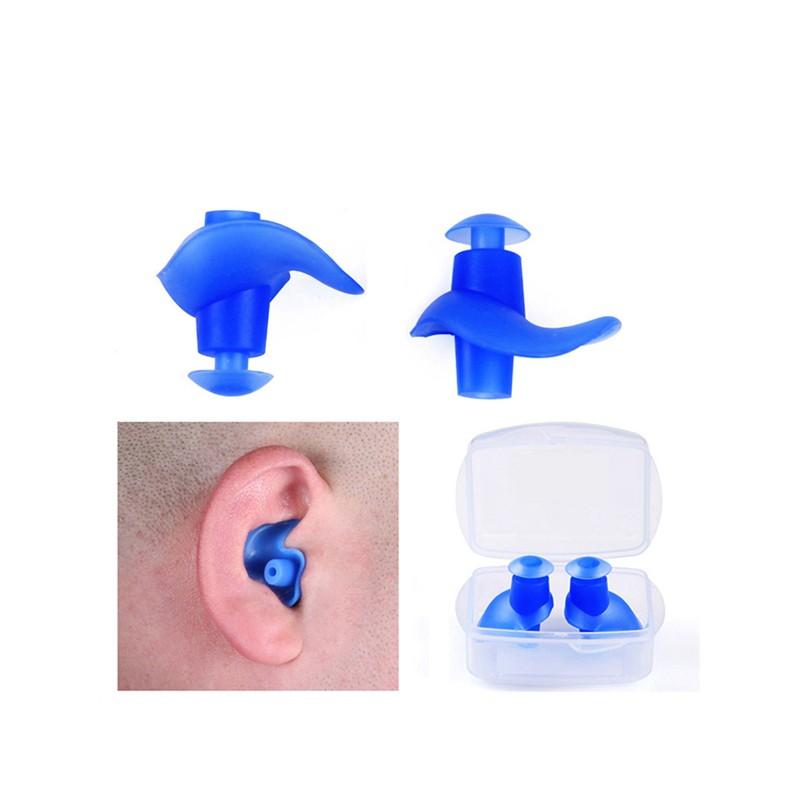 10Pairs Waterproof Swimming Silicone Swim Earplugs Soft Anti-Noise Ear Plug *
