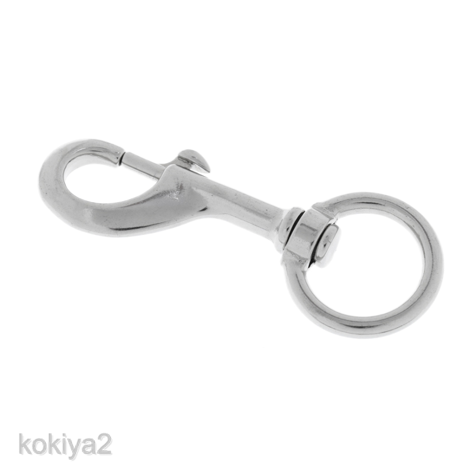 Length 80mm Stainless Steel Swivel Eye Bolt Snap Hook 316 Marine Grade Clips Round Eye Lobster Clasp Bolt Snap Holder for Pet Leash//Camera Strap//Keychains