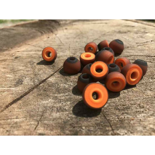 Symbio W Hybrid Audiophile Eartips By Mandarines Silicone Special Memory Foam Shopee Philippines