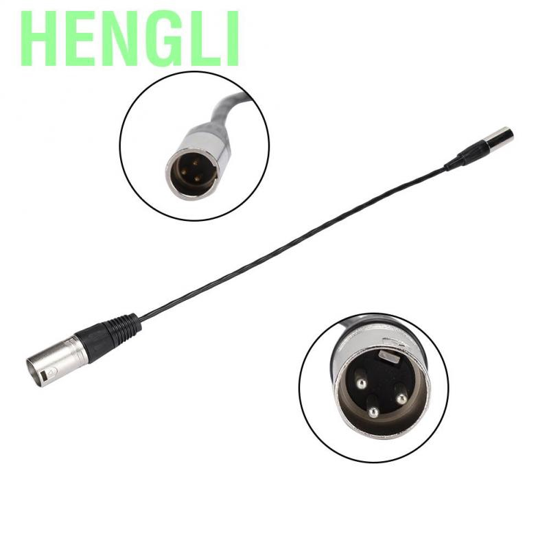 ASHATA Audio Cable,Mini XLR 3pin Male to XLR 3pin Female Audio Cable,Aluminum Foil Shielded Copper Wire Audio Cable,Suitable for All Kinds of Cameras