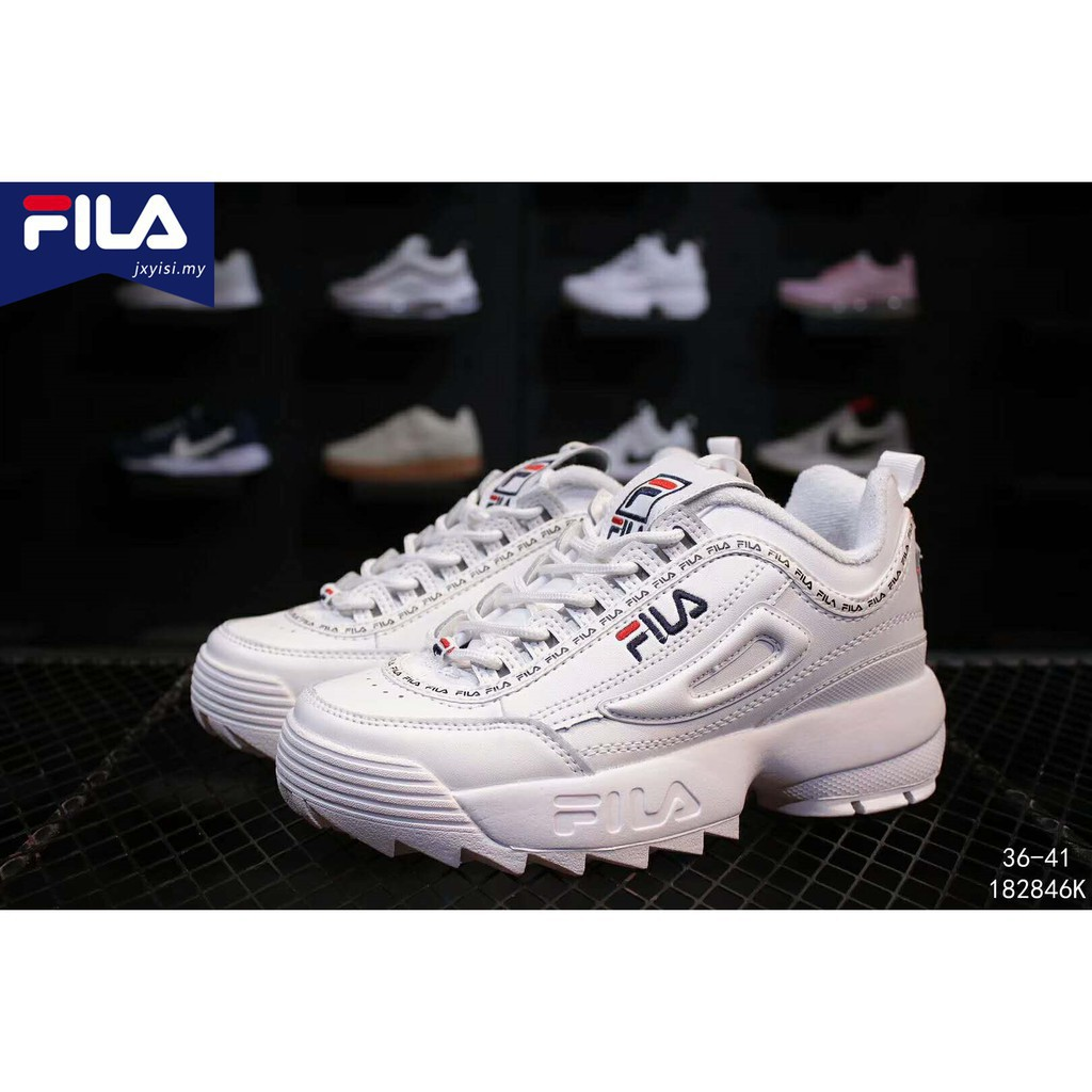 0e8c36eae45 Fila Disruptor 2 II Casual men women Running increased Shoes ...