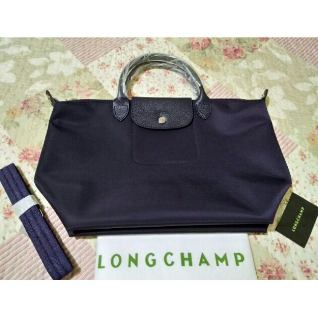 f92932032bbe New Violet Authentic Longchamp Neo with Dustbag