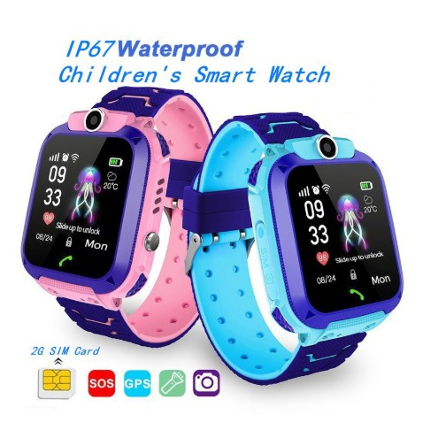 Smart Watch Function LBS Positioning + Camera + Water-proof Pedometer Q12B  for Children / Sports