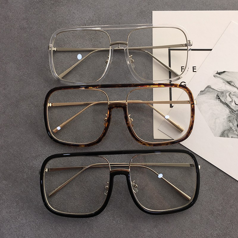 514e4ade4ea4d Korean vintage round metal glasses frame art pearl fine frame flat light  mirror men and women can be