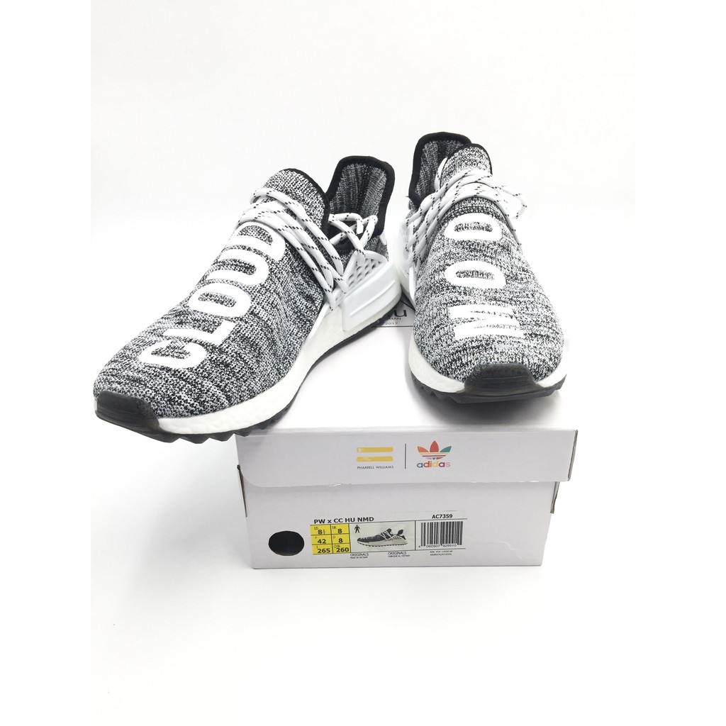 a13608503d75 Adidas PW x CC HU NMD RUNNING SHOES FOR MEN Black White