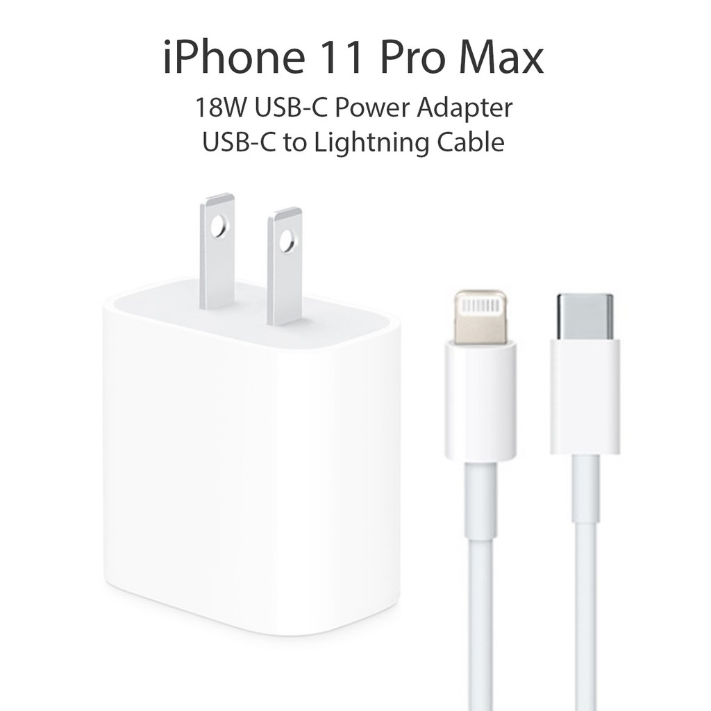 BRANDED***** 18W USB-C Power Adapter USB-C to Lightning Cable Charger for Apple iPhone 11 Pro Max | Shopee Philippines