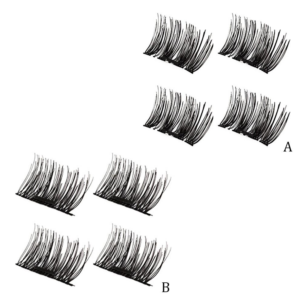34031faf96b 4pcs Magnetic False Eyelashe Fake Eye Lashes Extension Makeup Cosmetic  Supplies