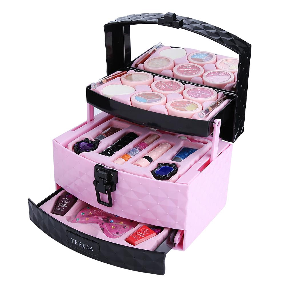 2db6a5d8e7e1 Girls Make Up Case Powder Blush Cosmetic Girls Cosmetic Toys
