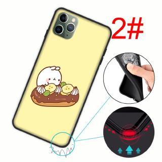109YX Molang Rabbit Silicone Soft Cover iPhone 6 6s 7 8 Plus X XS 11 Pro Max XR Case