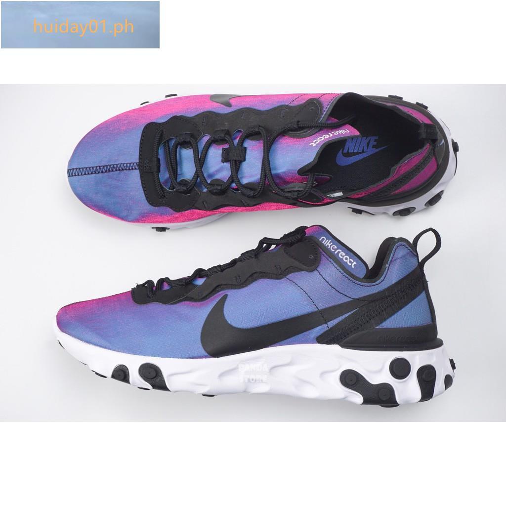 heroína Pobreza extrema Impresionante  NIKE REACT ELEMENT 55 Galaxy cushioning CD6964-001 BQ9241-002 black purple  men's and women's shoes | Shopee Philippines