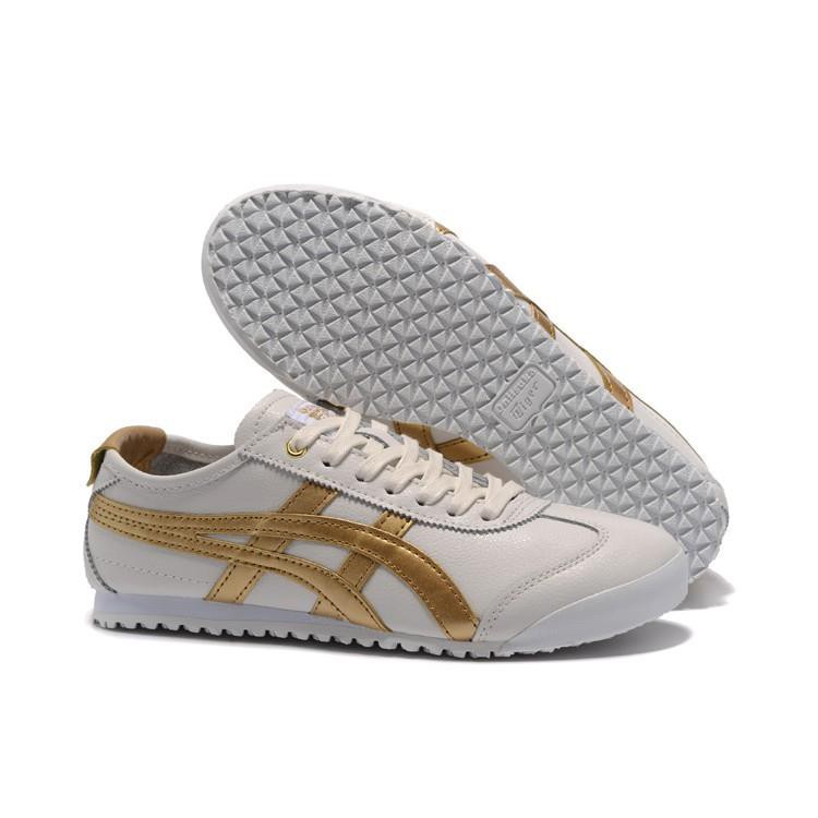 wholesale dealer e4218 2243d zhshe ASICS ONITSUKA tiger men women running shoes Authentic  white/gold/silver