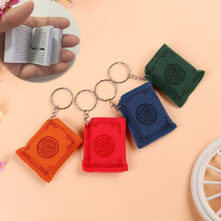 Mini Ark Quran Book Key Chain Resin Islamic Key Ring Key Car Key Bag Chram Gifts