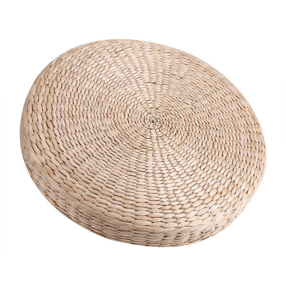 "Japanese Style Handmade Straw Woven Seat Cushion Tatami Dia 15.75/"" 40cm"