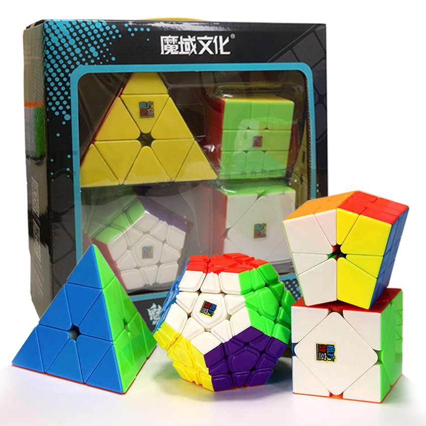 MoFang JiaoShi MeiLong Gift Set WCA Speed Rubik's Cube MF9318 Stickerless