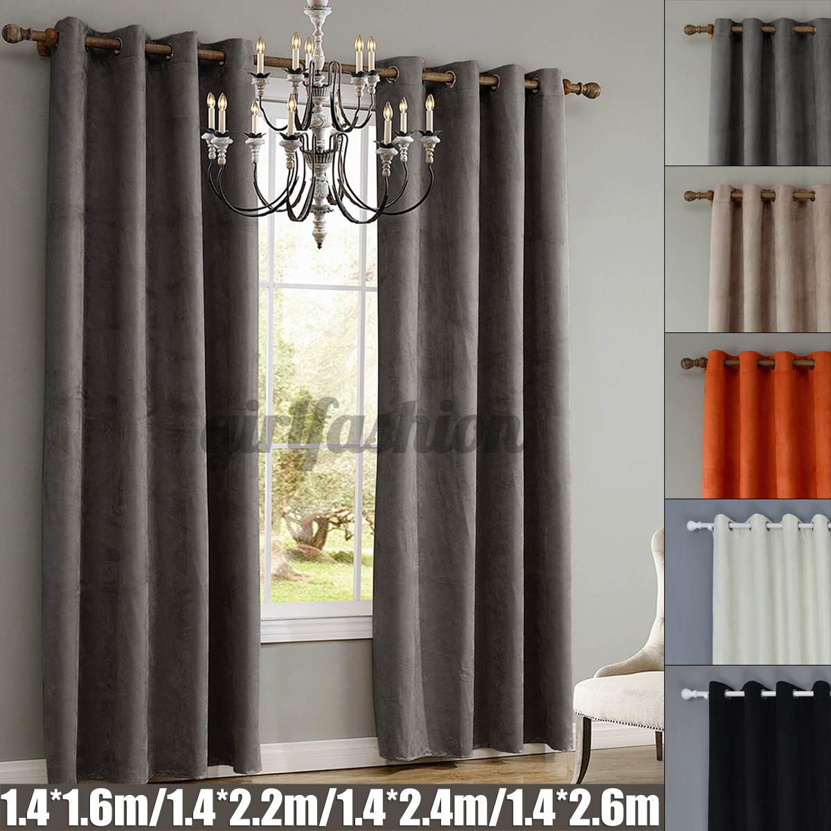 5 Colors Solid Colors Blackout Curtains For Living Room Bedroom Modern Window Curtains Thermal Curtain For Window Home Decor Grommet Drapes Bedroom Decorations Shopee Philippines