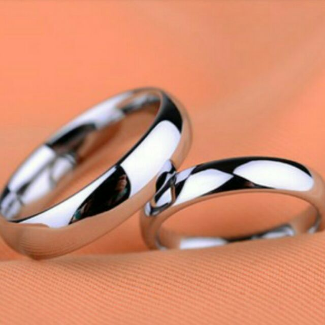 Stainless Silver Couple Ring (Super Sale)