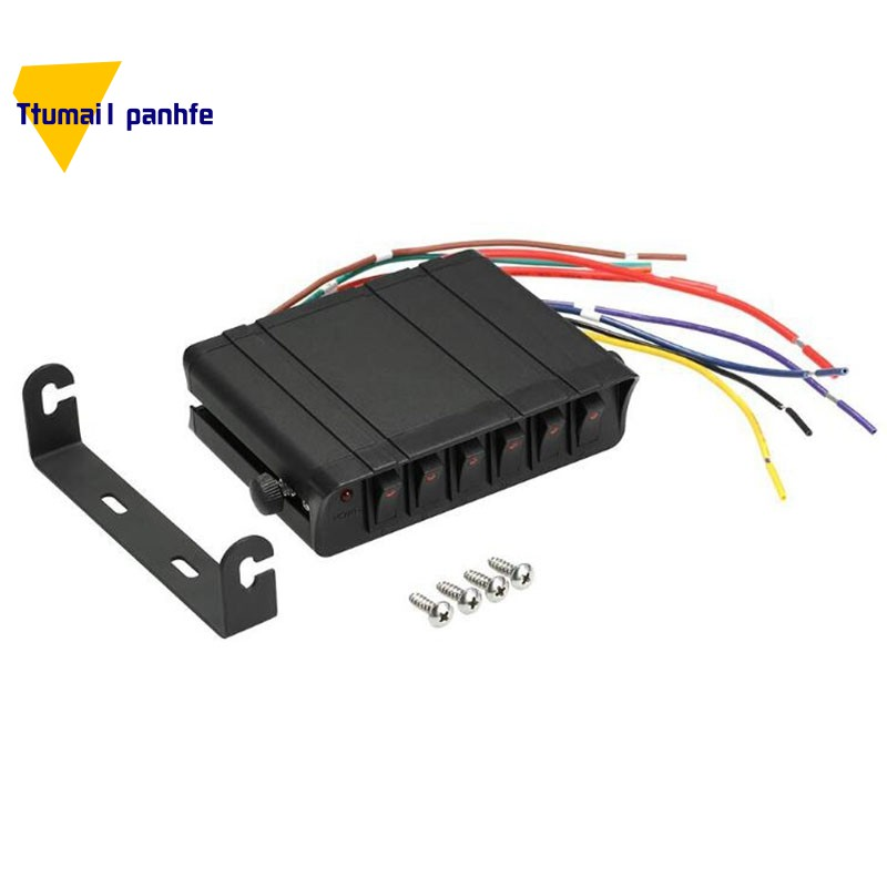 80 Amp On Off Box 20a Switches Led Backlit 12awg Input Wire 12v Spst 6 Gang Rocker Switch Panel For Shopee Philippines