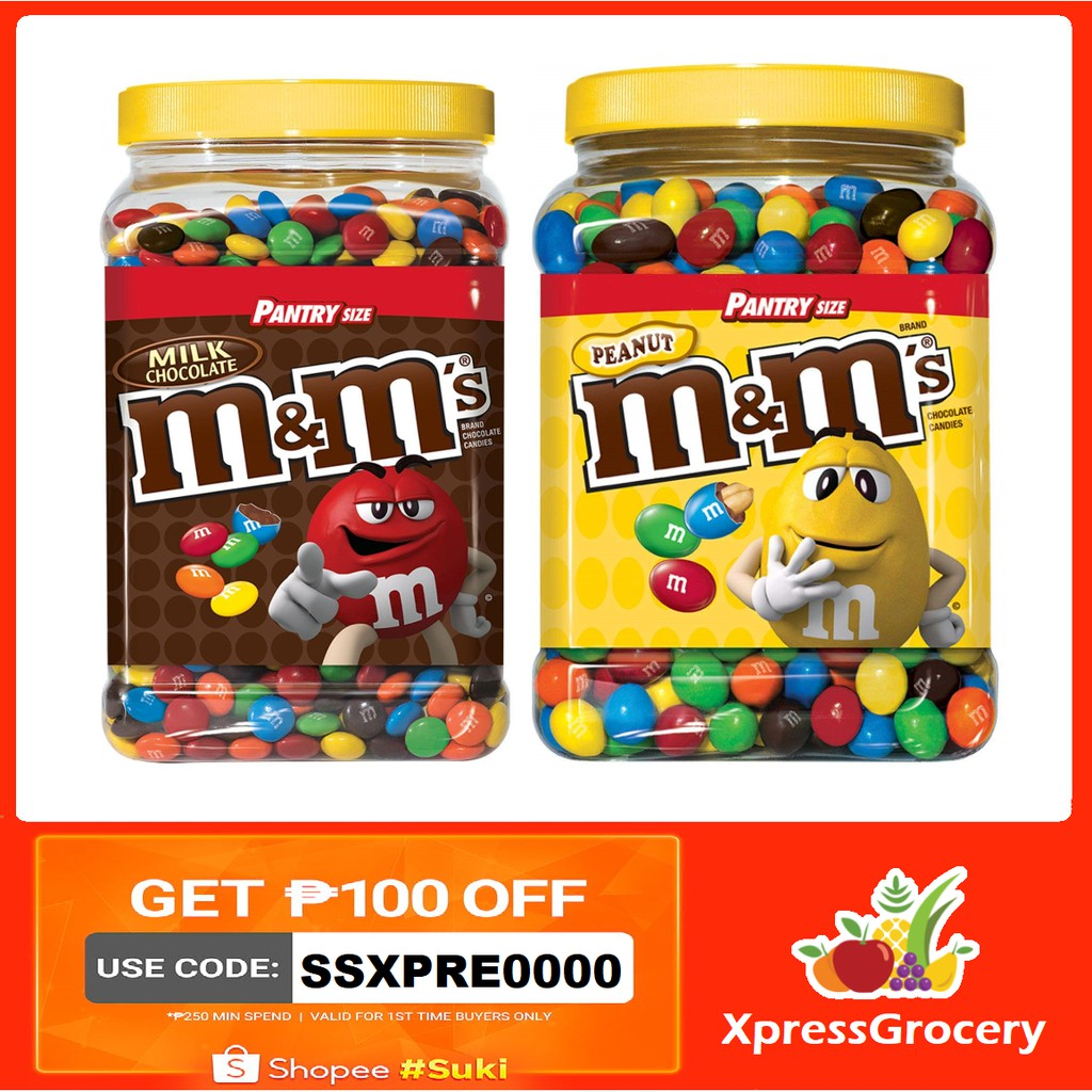 M&M's Milk Chocolate Peanut Jar M&Ms Pantry 62oz | Shopee Philippines