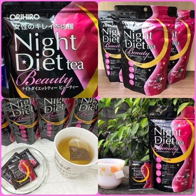 Kết quả hình ảnh cho trà giảm cân night diet collagen