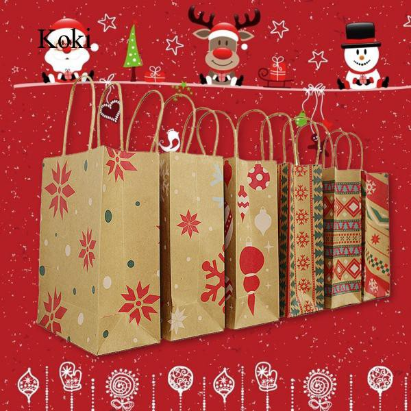 Merry Christmas Gift.10pcs Merry Christmas Gift Paper Bags For Parties Celebrations K82