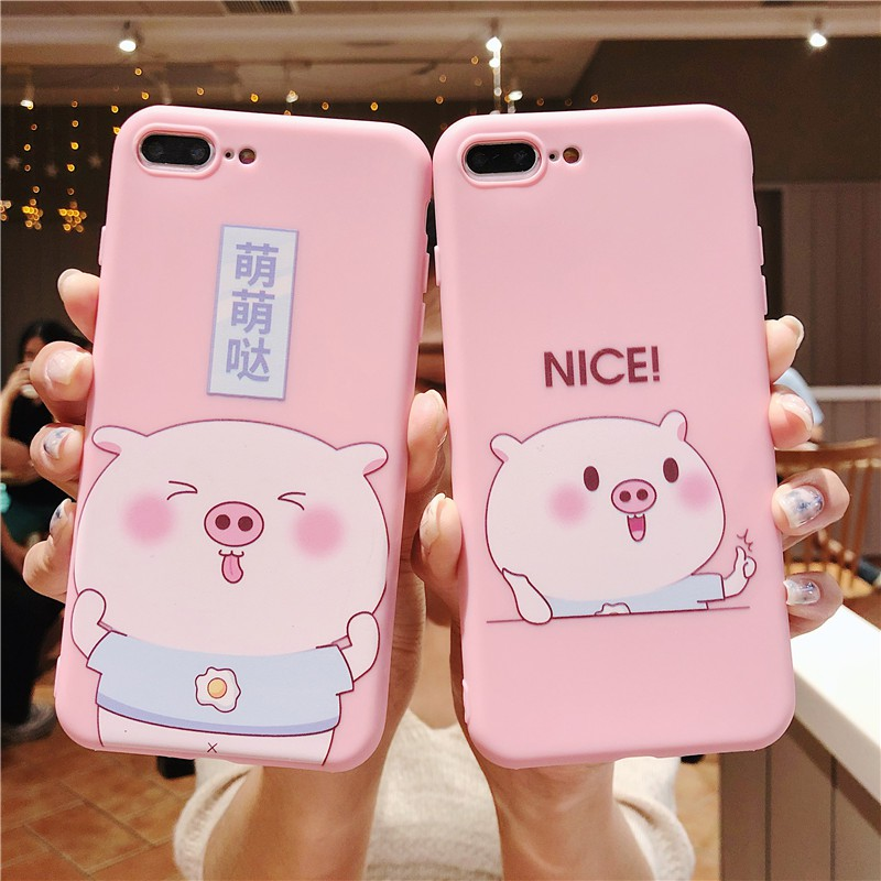 Oppo A3s Cover Cute Cartoon Pig Print Case For Oppo A83 F5 F1s A57 A39 TPU  Soft