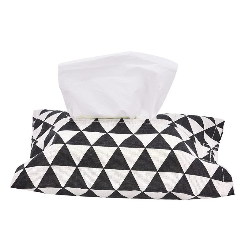Tissue Box Home Bathroom Toilet Paper Napkin Holder Case Cover Car Storage Bag