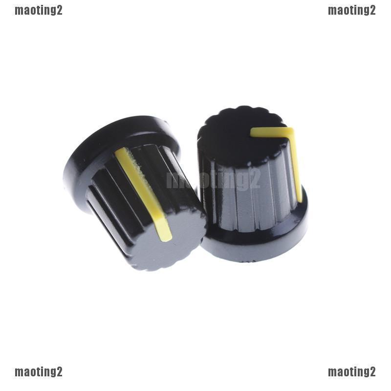 Assorted Color Rotary Control Plastic Potentiometer Knob 6mm Knurled Shaft Hole
