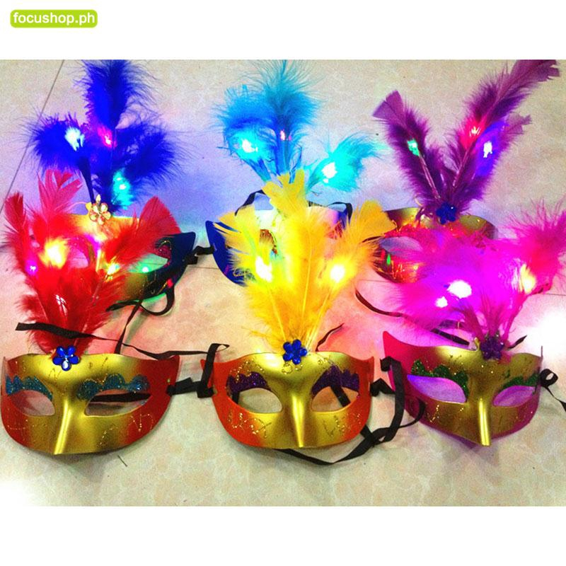 Feather Mask Ladies For Masquerade Costume Party Halloween Decoration Colorful