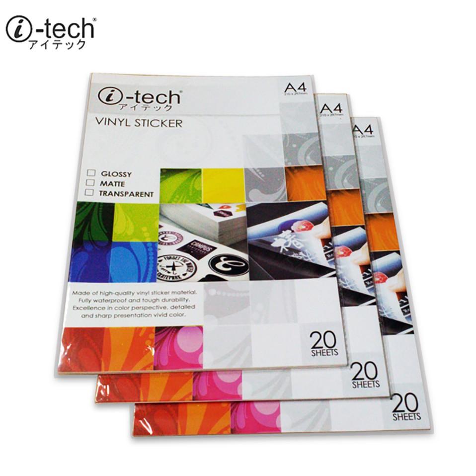 i-tech Vinyl Sticker Waterproof (20 Sheet)
