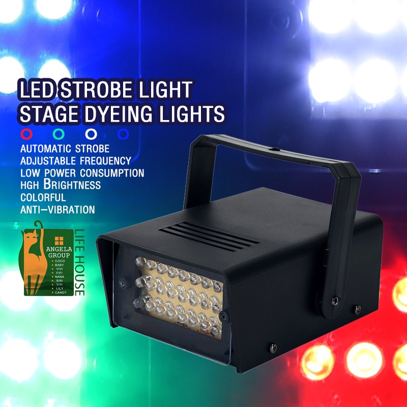 Led small strobe, mini strobe lamp, KTV compartment flash lamp, laser lamp, bar flash lamp, stage light, stage dyeing lamp