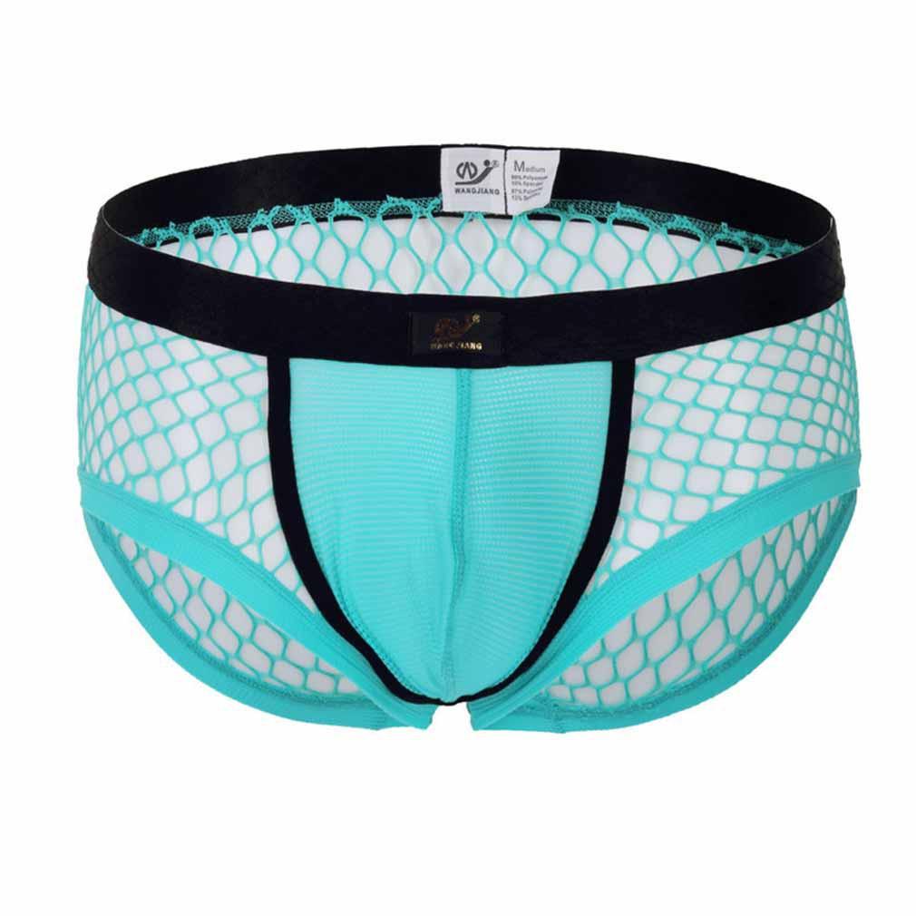 3855849be9ef Sale>Men Underwear Mesh Transparent U Convex Shorts Light Blue ...