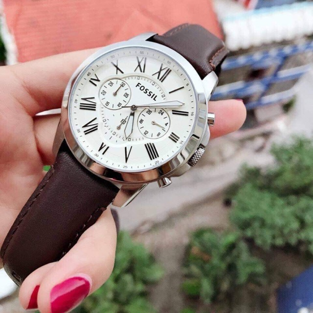 FOSSIL LEATHER WATCH FOR MEN