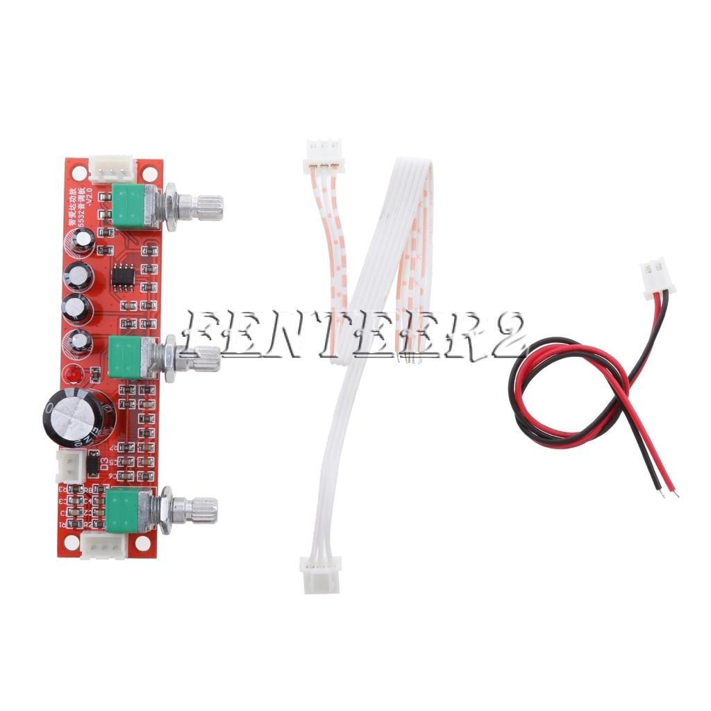 HIFI Amplifier Passive Tone Board Treble Bass Volume Control Preamp Board 2.1CH