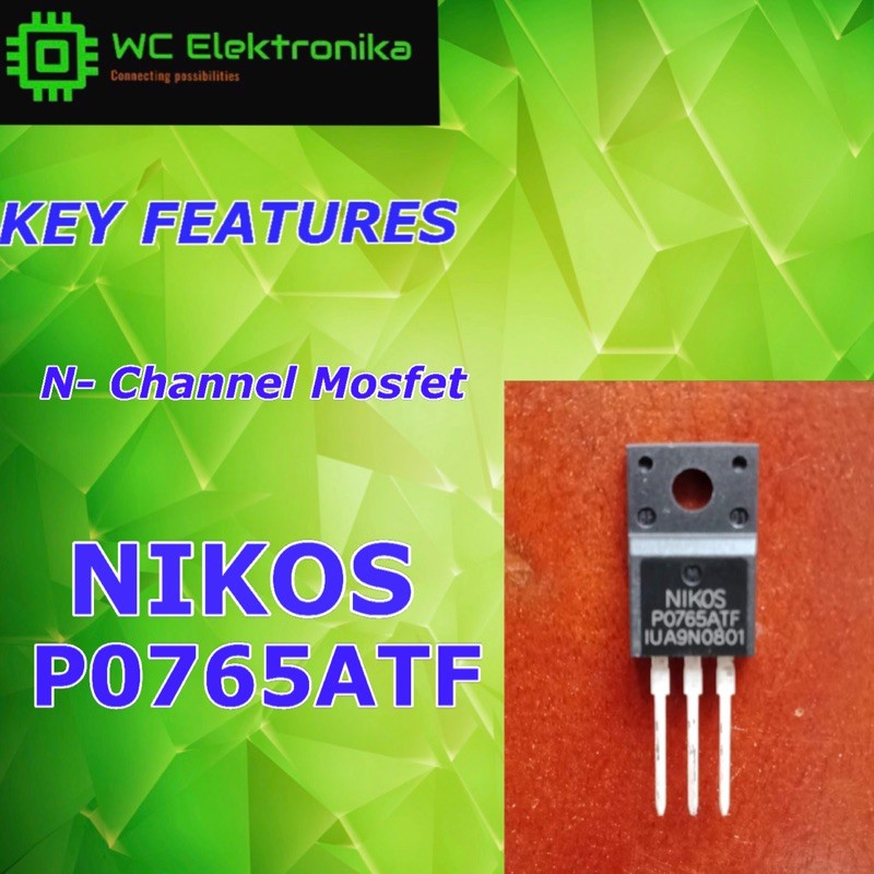 chorro mostrador temperatura  NIKOS P0765ATF N-CHANNEL MOSFET ORIGINAL | Shopee Philippines