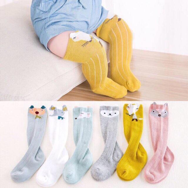 867721724 Cartoon Cotton Baby Knee High Socks Tights Stockings | Shopee Philippines