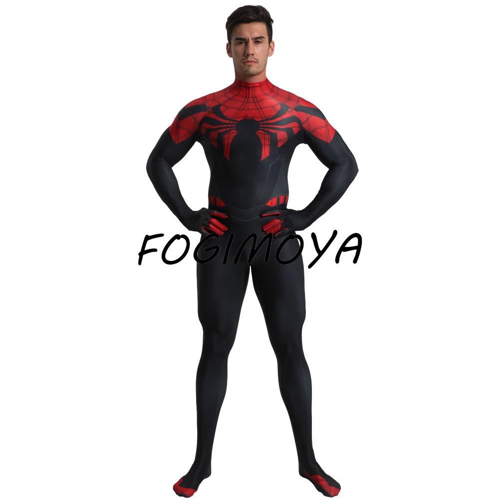 Spiderman Costume Kid Spandex Lycra Zentai 3D Bodysuit Homecoming Cosplay