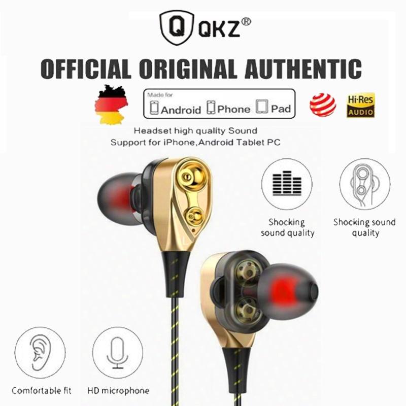 QKZ CK8 Earphones Bass Headset HIFI Earbuds In-Ear Headphone