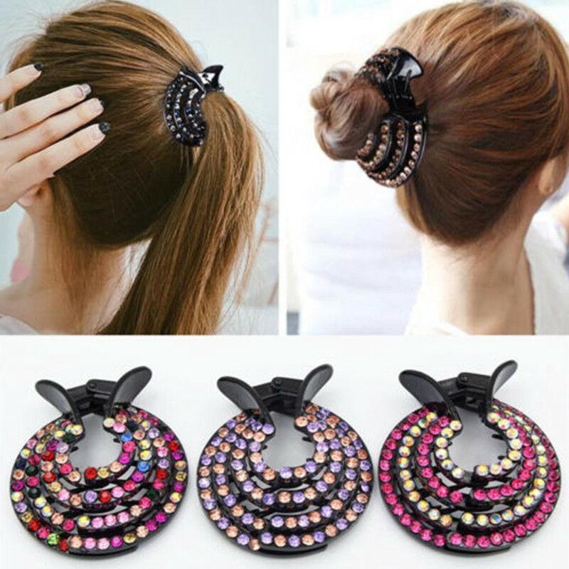 Hair Clip  Women  Claw  Ponytail  Fashion Comb  Crystal  Hair  Bun  Hairpin