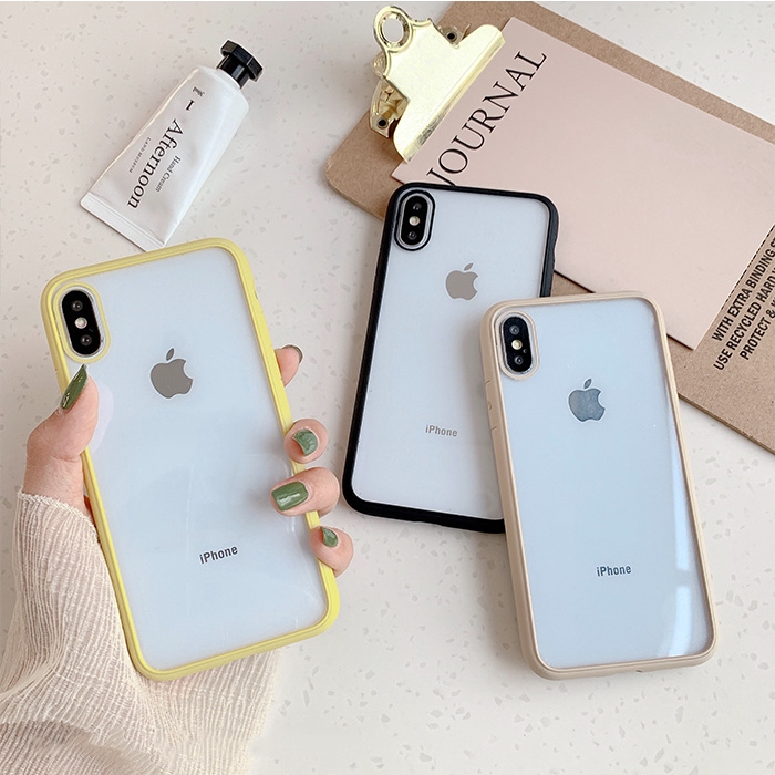 Candy color Anti-knock soft Case for iphone X XR XS Max