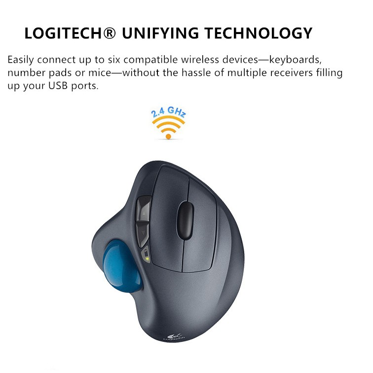 Logitech M570 Wireless Trackball Professional Painting Mouse