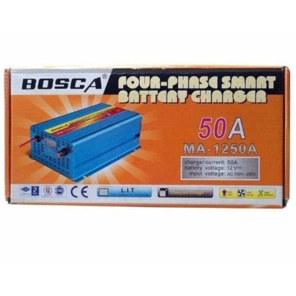 Four Phase Smart CAR Battery Charger Bosca | Shopee Philippines