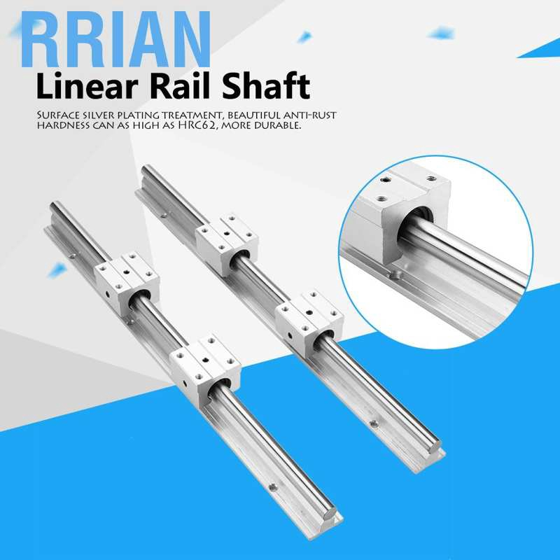 2pcs SBR12 L 400mm Linear shaft rail support 4pcs SBR12UU Linear Bearing Blocks