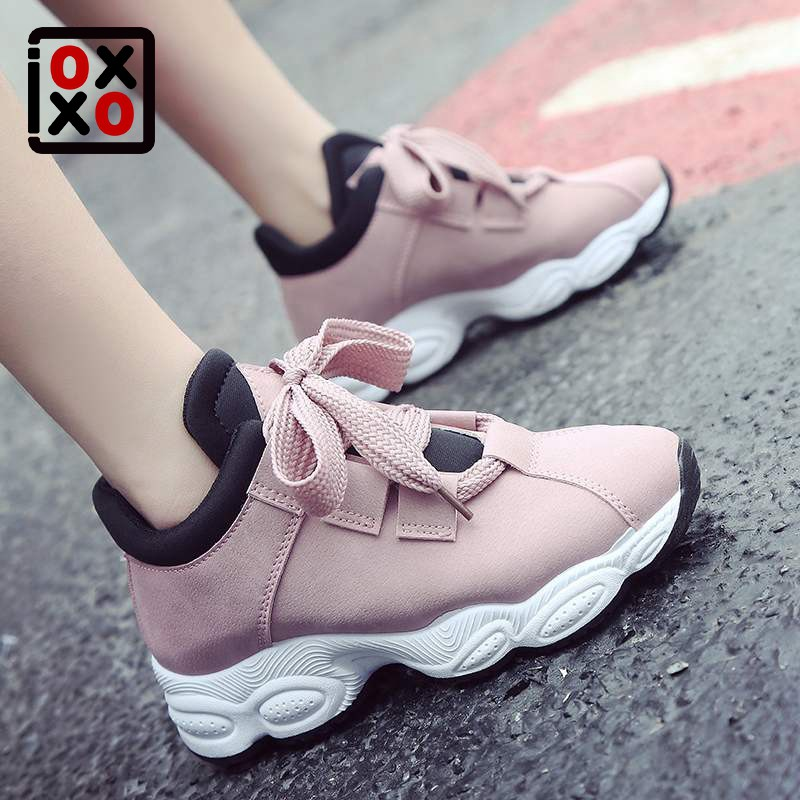 online store ff36e 7a0f9 Womens PU leather Sneakers Female Korean Sports Shoes