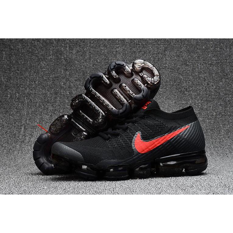 reputable site 2c5b1 377d6 Nike Air VaporMax 2017 Black Red Womens
