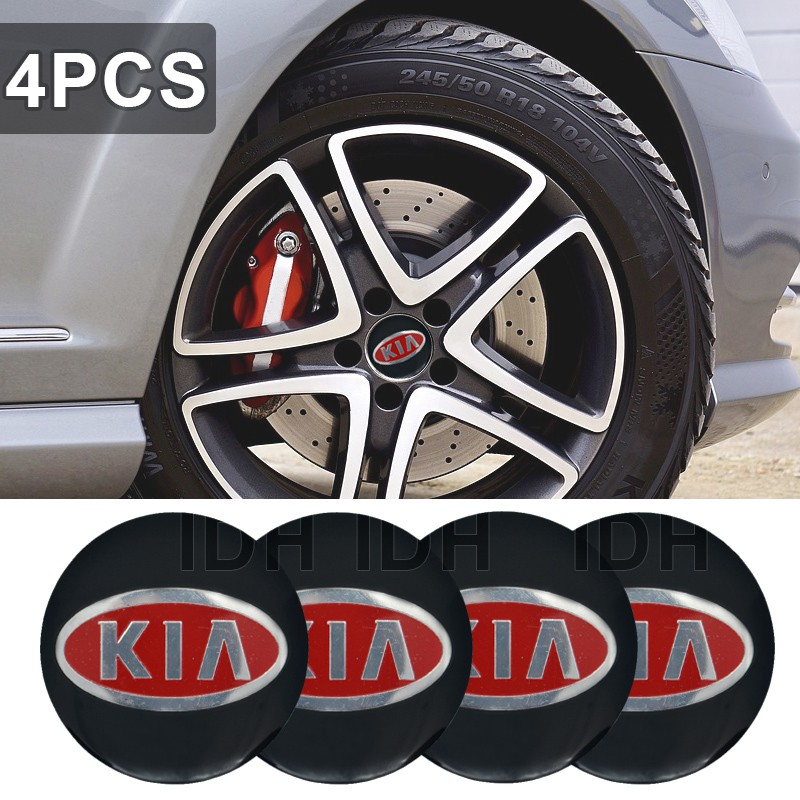 4x 56mm Wolf Jump Wheel Centre Cap Sticker Logo 3D