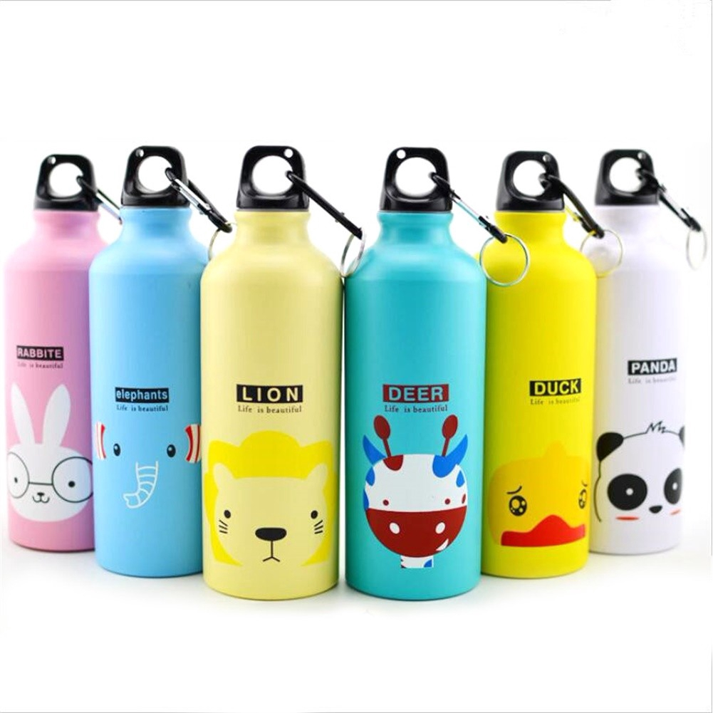 Cartoon Animal Water Drinking Cup Bag Travel Drink Bottle Child Foldable Bag W