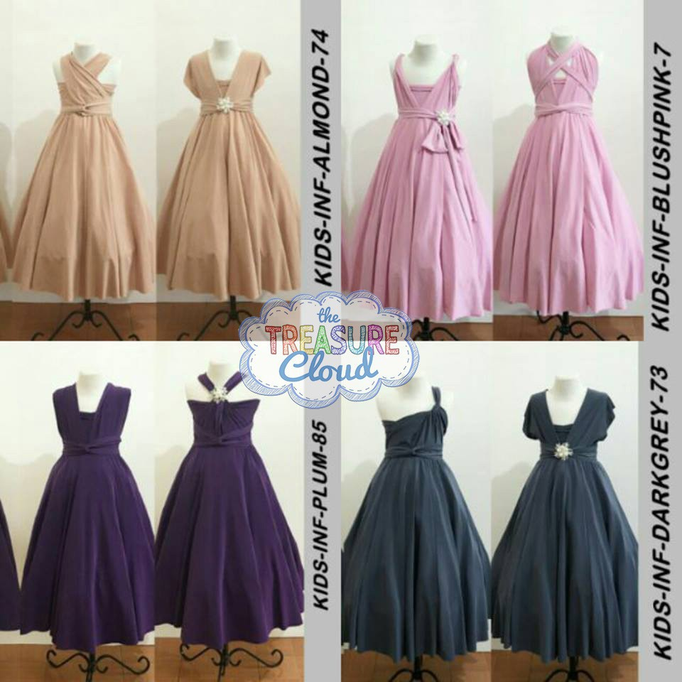 Best Seller Kid S Infinity Dress Flower Girl Dress Shopee Philippines,Beach Wedding White Dress For Guest
