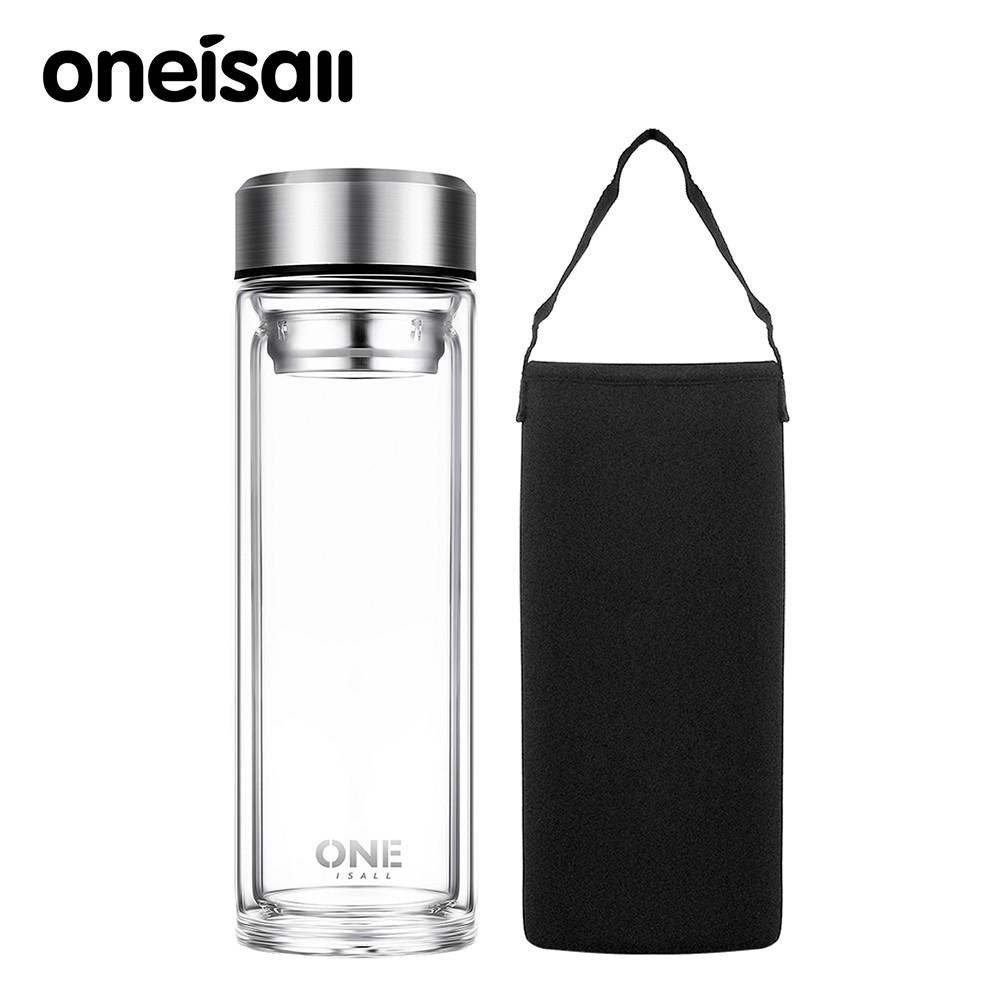 ☁HL 600ML 20oz Insulated Water Bottle Tea Cup with Tea Infus