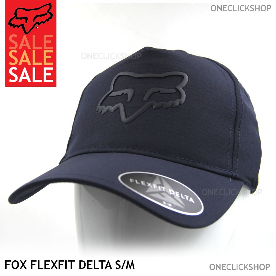 Fox Flexfit Delta 2 0 Natural Curve Closed Cap Blue